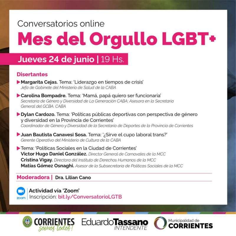 La Municipalidad realizará conversatorios por el mes del Orgullo LGBT+