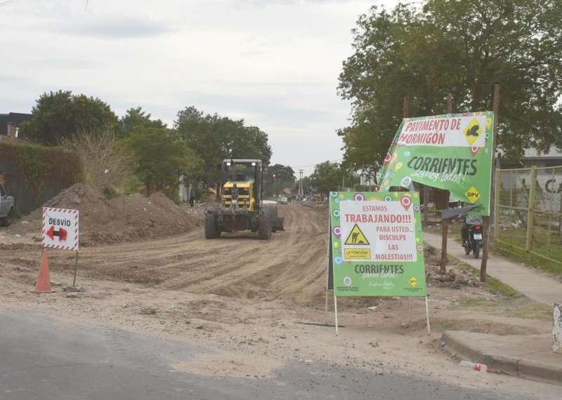 La provincia comenzó la pavimentación de la continuación de avenida Santa Rosa
