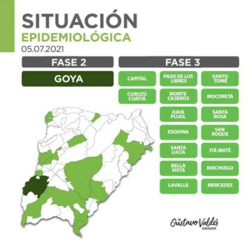 Coronavirus: Valdés comunicó que Mercedes pasa a fase 3