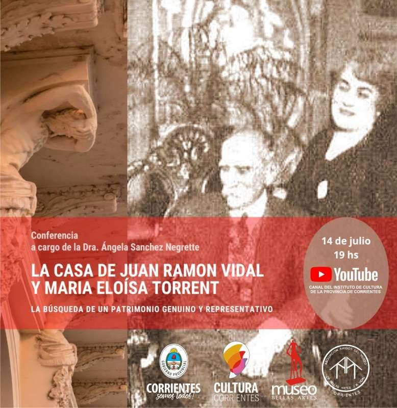 Conferencia sobre la casa de Juan Ramón Vidal y María Eloísa Torrent