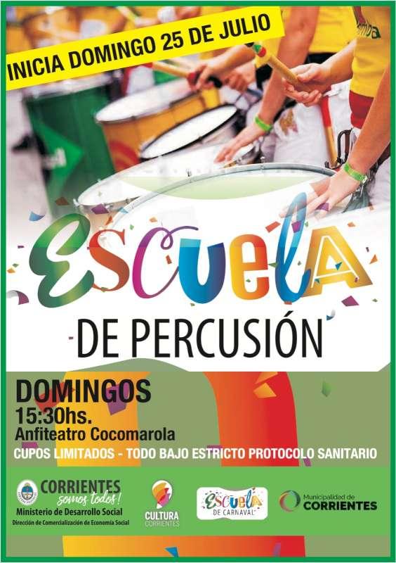 Se pone en marcha la escuela de percusión en el anfiteatro Cocomarola