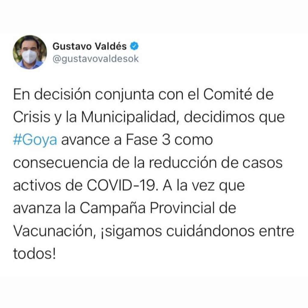 Goya avanza a Fase 3