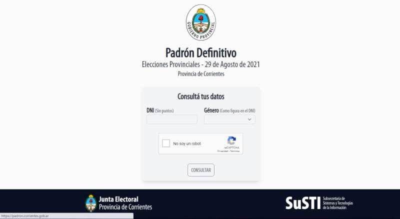 Padrón electoral: Provincia pone en funcionamiento la web oficial para consultas