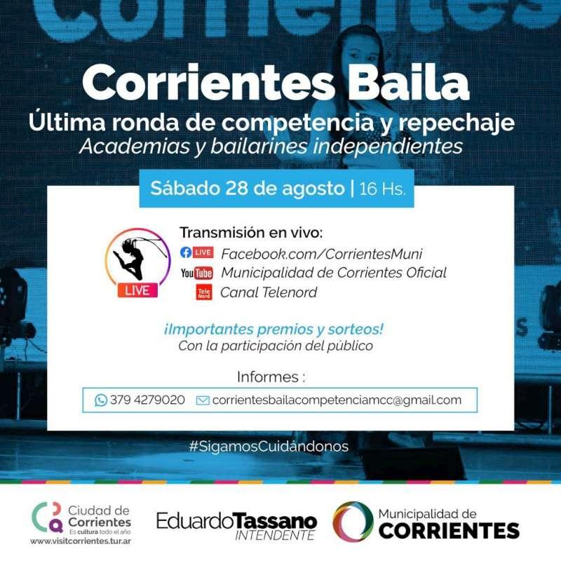 """El """"Corrientes Baila"""" tendrá este sábado su última jornada de clasificación y repechaje"""