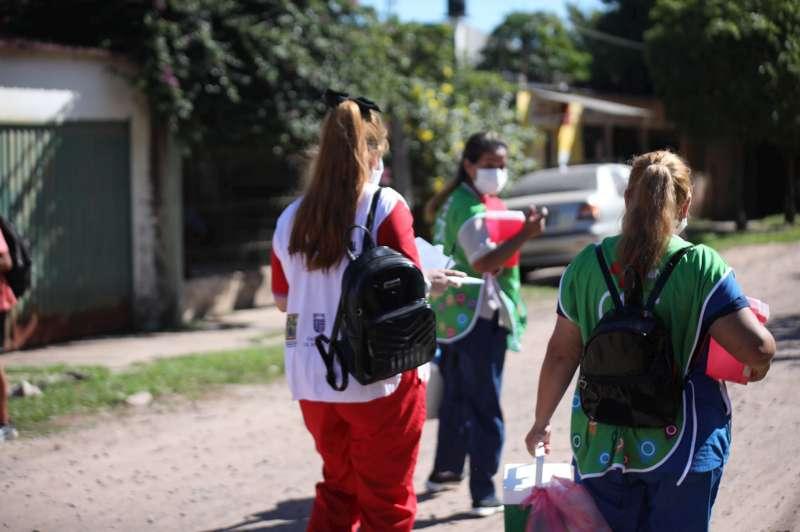 Salud continúa completando esquemas de vacunación Covid-19 en barrios de la capital