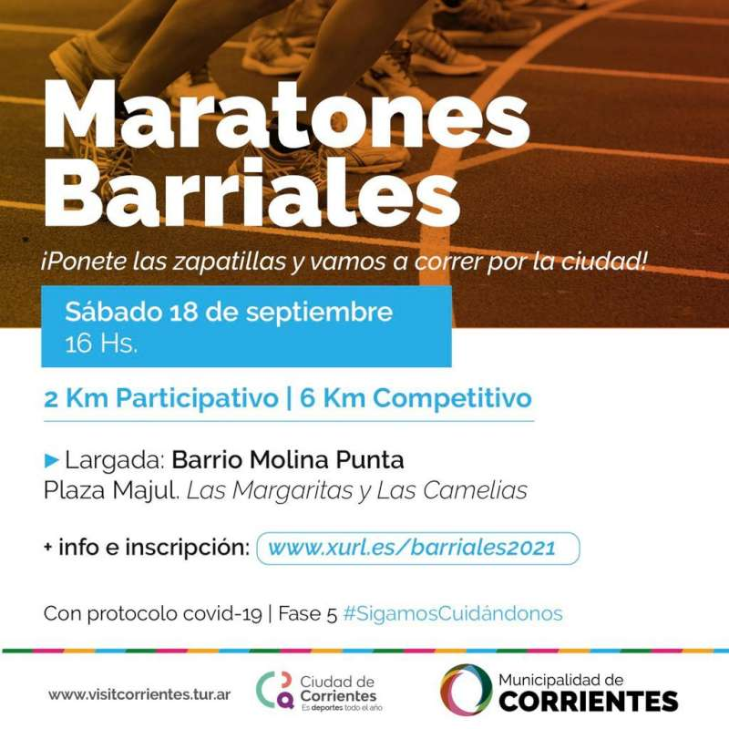 En el barrio Molina Punta se realizarán las Maratones Barriales