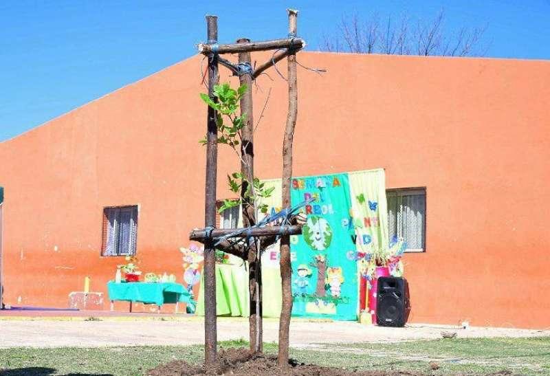 Jornada de concientización y plantación de árboles en el barrio Virgen de los Dolores