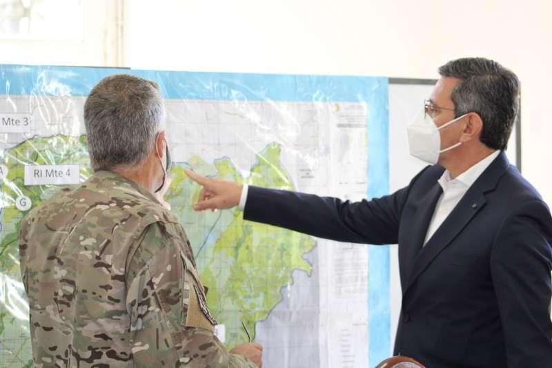 López Desimoni coordinó acciones con el Comandante Electoral del Ejército