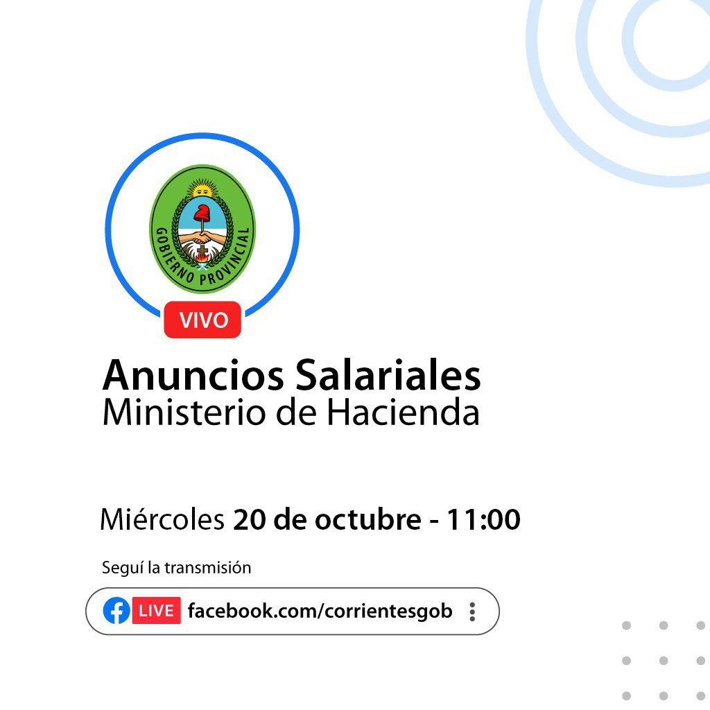 El Gobierno Provincial realiza anuncios salariales